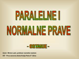 PARALELNE I NORMALNE PRAVE