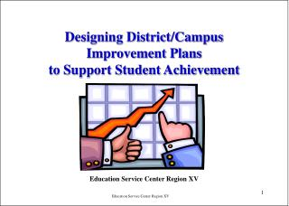 Designing District/Campus Improvement Plans  to Support Student Achievement