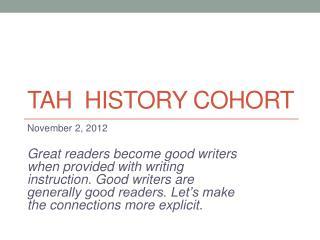 TAH  History Cohort