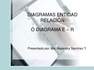 DIAGRAMAS ENTIDAD RELACIÓN