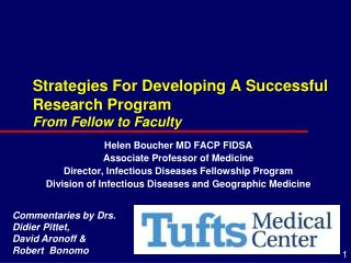 Strategies For Developing A Successful Research Program From Fellow to Faculty