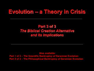 Evolution   a Theory in Crisis
