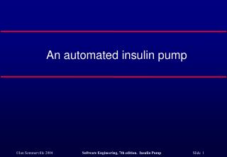 An automated insulin pump