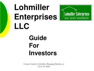 Lohmiller Enterprises LLC