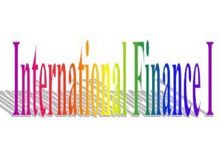 International Finance I