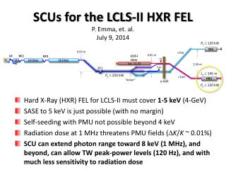 SCUs for the LCLS-II HXR FEL P. Emma, et. al. July 9, 2014