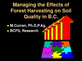 Managing the Effects of Forest Harvesting on Soil Quality in B.C.