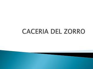 CACERIA DEL ZORRO