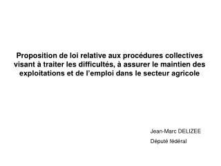 Jean-Marc DELIZEE Député fédéral