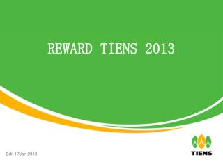 REWARD TIENS 2013