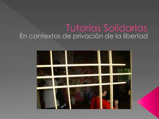 Tutorías Solidarias
