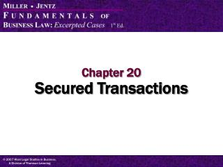 Chapter 20 Secured Transactions