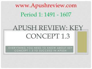 APUSH Review: Key Concept 1.3
