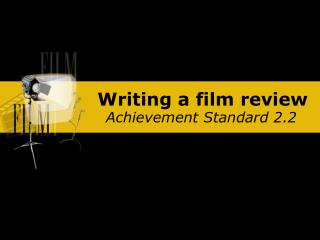 Writing a film review
