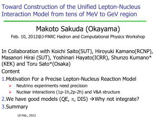 Toward Construction of the Unified Lepton-Nucleus Interaction Model from tens of MeV to GeV region