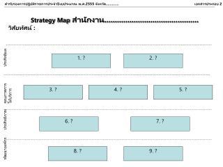 Strategy Map สำนักงาน............................................. วิสัยทัศน์ :