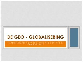 De Geo - Globalisering