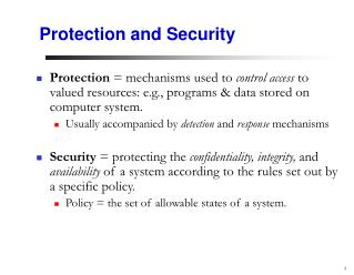 Protection and Security