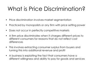 What is Price Discrimination?