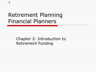 Retirement Planning Financial Planners