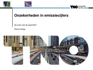 Onzekerheden in emissiecijfers