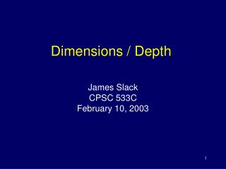 Dimensions / Depth