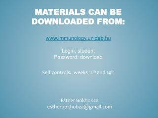 Materials can be downloaded from :