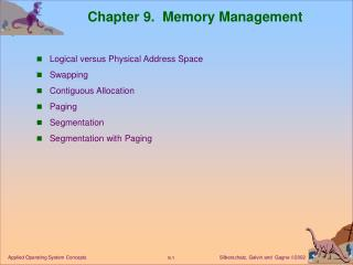 Chapter 9. Memory Management