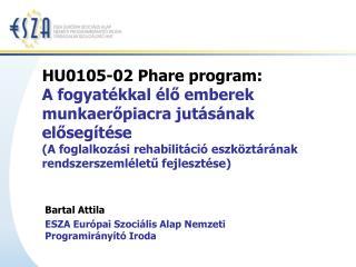 Bartal Attila ESZA Európai Szociális Alap Nemzeti Programirányító Iroda