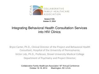 Integrating Behavioral Health Consultation Services into HIV Clinics
