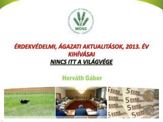 Érdekvédelmi, ágazati aktualitások, 2013. év kihívásai NINCS itt a világvége