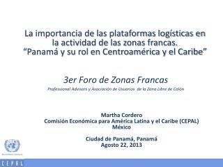 Martha Cordero Comisión Económica para América Latina y el Caribe (CEPAL) México