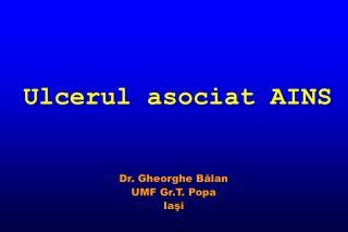 Ulcerul asociat AINS