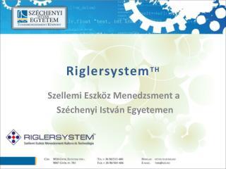 Riglersystem TH