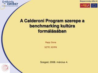 A Calderoni Program szerepe a benchmarking kultúra formálásában