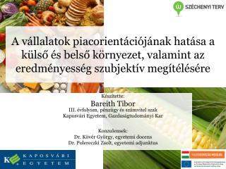 Készítette: Bareith Tibor III. évfolyam, pénzügy és számvitel szak