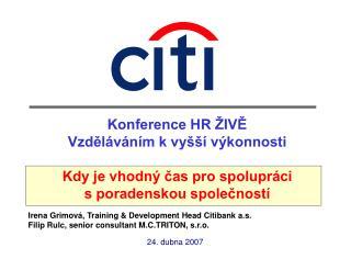 Konference HR ŽIVĚ Vzděláváním k vyšší výkonnosti