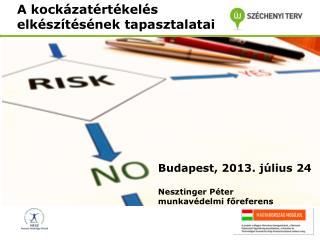 A kockázatértékelés elkészítésének tapasztalatai