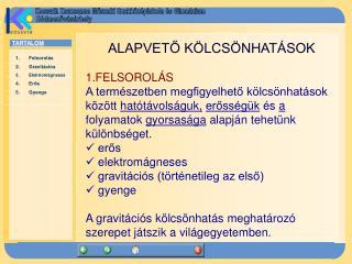 ALAPVETŐ KÖLCSÖNHATÁSOK 1.FELSOROLÁS