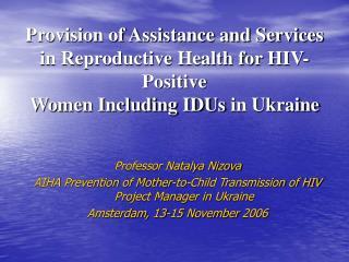 Professor Natalya Nizova
