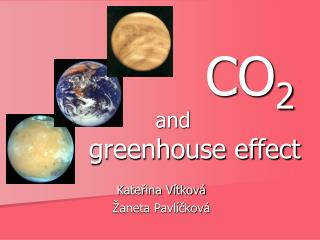 CO 2 and greenhouse effect
