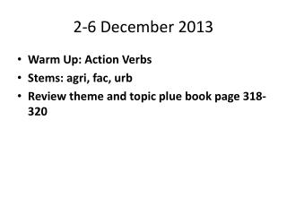 2-6 December 2013