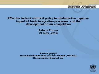 Tools for effective regional cooperation on competition policy: an outline