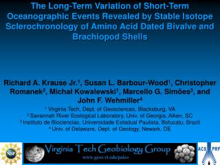 1 Virginia Tech, Dept. of Geosciences, Blacksburg, VA