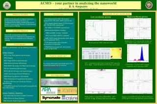 ACSES – your partner in analyzing the nanoworld