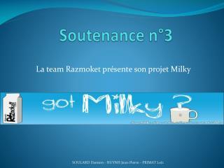 Soutenance n°3