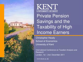 Private Pension Savings and the Taxability of High Income Earners