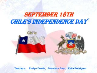 September 18th Chile's Independence Day