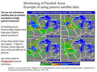 Can we use microwave  satellite data to monitor  inundation at high  spatial resolution?