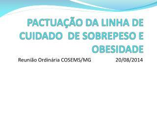 PACTUAÇÃO DA LINHA DE CUIDADO DE SOBREPESO E OBESIDADE